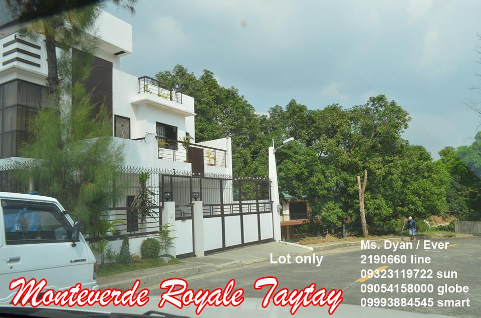 monteverde royale taytay lot for sale near club manila east sm. Black Bedroom Furniture Sets. Home Design Ideas